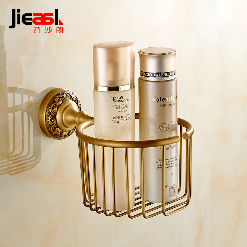 Jieshalang copper European antique paper towel basket basket towel toilet paper holder towel rack box net basket