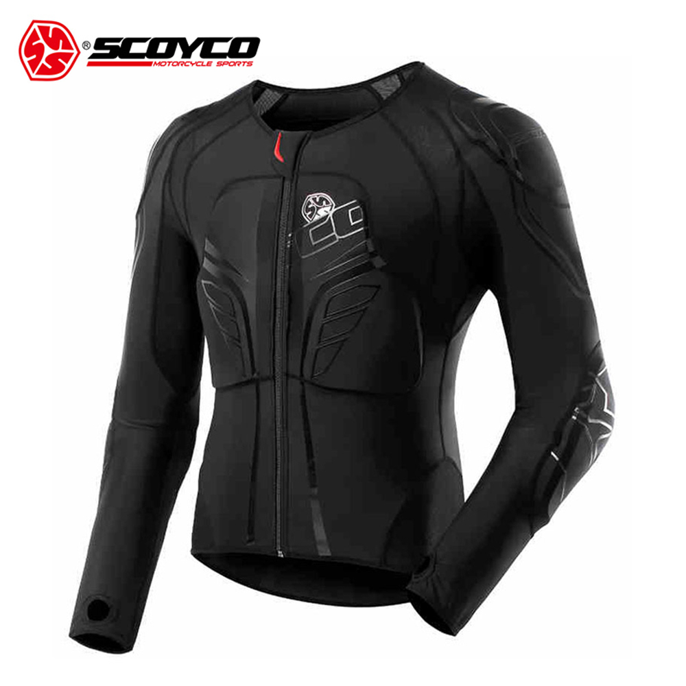 SCOYCO Men's Racing Motocross Protective Jacket Motocross Armor Racing Body Armor Black Motorcycle Jacket Soft Moto Armor M-3XL klotz ikn09pr1