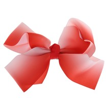 Lovely Designs Boutique Big Hair Bows Alligator Clip Grosgrain Ribbon Bowknot Clip For Girl(China)