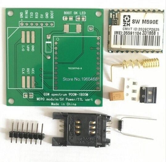 M590E GSM GPRS модуль 900 м-1800 м GSM GPRS sms сообщение Diy наборы M590 900 м-1800 м sms ПРОЦЕССОРА тест MCU
