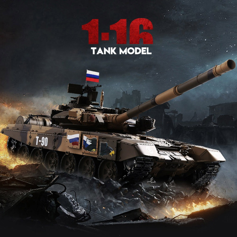 HengLong RC Tank 2 4GHz Simulation 30m Remote Control Model Toy 1 16 Scale RC Tank