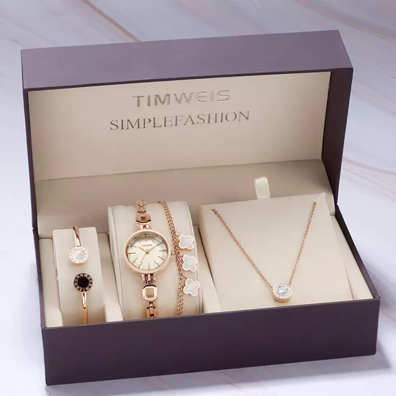 Women Creative Design Watch Set Female Jewelry Sets Fashion Cutting Mirror Watch Bracelet Necklace Ladys Gifts With Gift BoxWomen Creative Design Watch Set Female Jewelry Sets Fashion Cutting Mirror Watch Bracelet Necklace Ladys Gifts With Gift Box