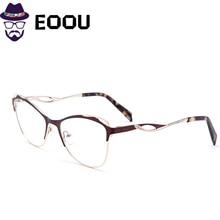 women cat eye glasses frame metal