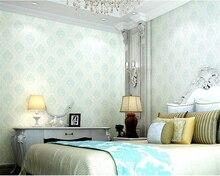 beibehang European pastoral Damascus flower wall paper nonwoven girl room living bedroom wedding background wallpaper