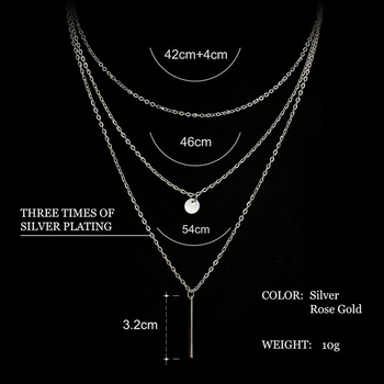 2016-Womens-Fashion-Jewelry-Colar-1pc-European-Simple-Gold-Silver-Plated-Multi-Layers-Bar-Coin-Necklace-Clavicle-Chains-Charm-2
