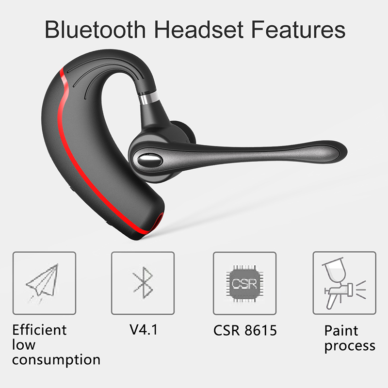 New V8 Business Bluetooth Headset Handsfree Wireless: Honshoop V8 Business Bluetooth Headset Stereo Noise