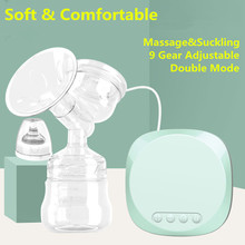 Electric Breast Pump Baby Breast Feeding Milk Extractor Powerful automatic massage breast pump mute BPA free for Pregnant woman цена 2017
