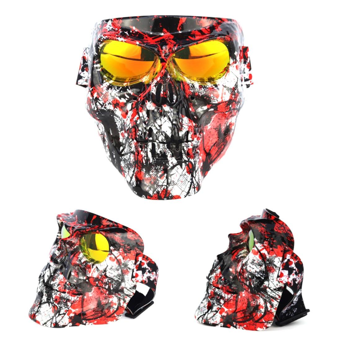 Pour Nerf Jeux de Guerre 18 cm Galvanoplastie Crâne Tactique Masque Coupe-Vent Lunettes pour Airsoft Halloween Jouets de Plein Air