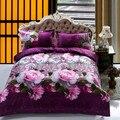 New Style 100% Polyester 3d Bedding Sets Flower Reactive Printing jogo de cama 4 pcs/set Duvet Cover Pillow Cover Bedsheet