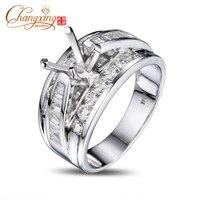 6 5mm Round Cut Vinage Style Diamond Semi Mount Mens Ring 14k White Gold