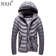 NXH 2017 Winter Men's jackets Hat Detachable Male Warm coats Windproof outer wear  Zipper inner bag Hooded camouflag 7colors