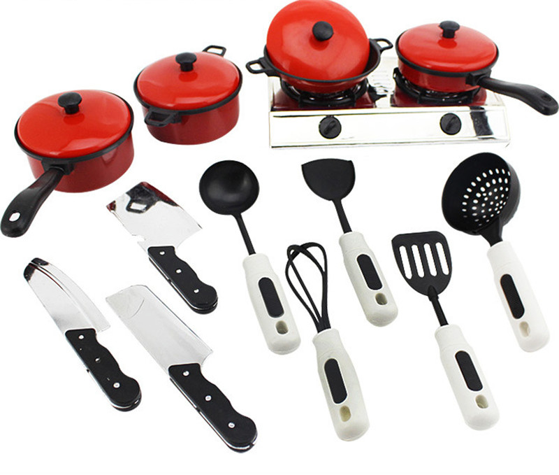 13pcs/set  Kids Classic Pretend House Kitchen Toys Simulation Utensils Cooking Pots Dishes Cookware Pretend Play Toy for Kids13pcs/set  Kids Classic Pretend House Kitchen Toys Simulation Utensils Cooking Pots Dishes Cookware Pretend Play Toy for Kids