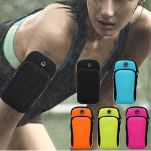 Portable Outdoor Sports Wrist Arm Band Pouch Mobile Cell Phone Holder Wallet Bag BB55