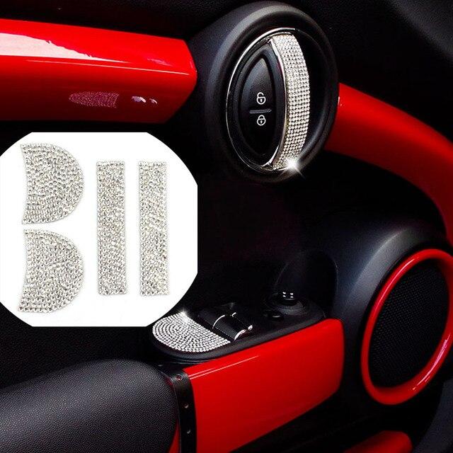 Car Interior Door Handle Crystal Cover Stickers Decals Diamond ...