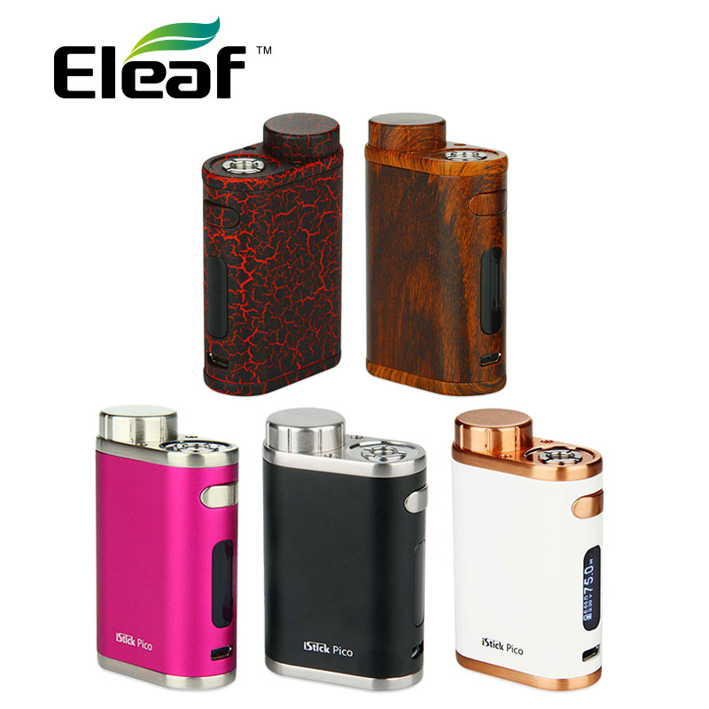 Original 75W Eleaf iStick Pico Mod for MELO 3 Mini Tank Max 75W Output E-cig Vape Box Mod VW/TC Mode iStick Pico Mod Vs Pico 25 original 75w eleaf istick pico tc box mod vape vaporizer temp control mod e cig no 18650 battery fit melo 3 melo 3 mini atomizer