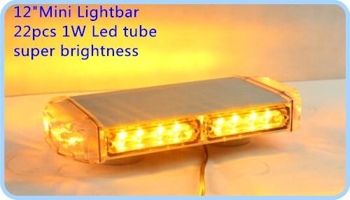 22W 30cm Led lampu peringatan mobil yang lebih tinggi, lampu darurat - Lampu mobil - Foto 1
