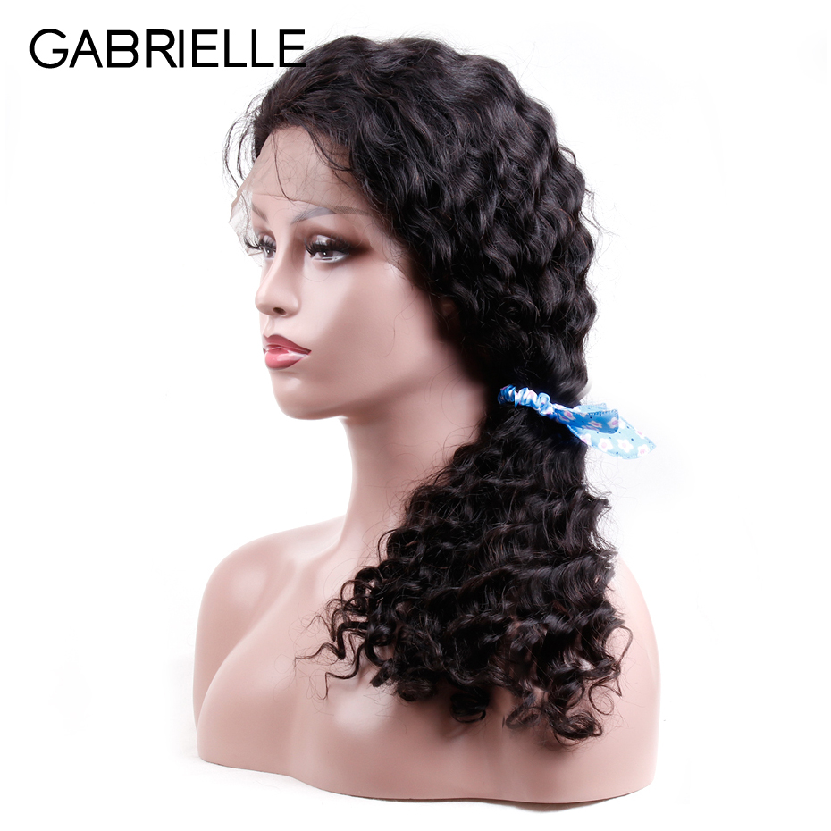 Gabrielle Brazilian Deep Wave Lace Front Human Hair Wigs With Baby Hair Pre Plucked Hairline Lace Front Wig For Black Woman