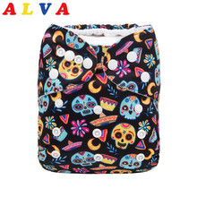 New Arrival! Alvababy Reusable Cloth Diaper Washable Cloth Nappy Pocket Baby Gift