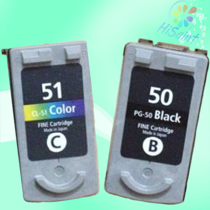 Hisaint PG-50 CL-51 Nero e Colore Cartuccia di Inchiostro Per Canon PG50 CL51 Pixma MP150 MP160 MP170 MP180 MX308 MX318 IP2200 IP6220D