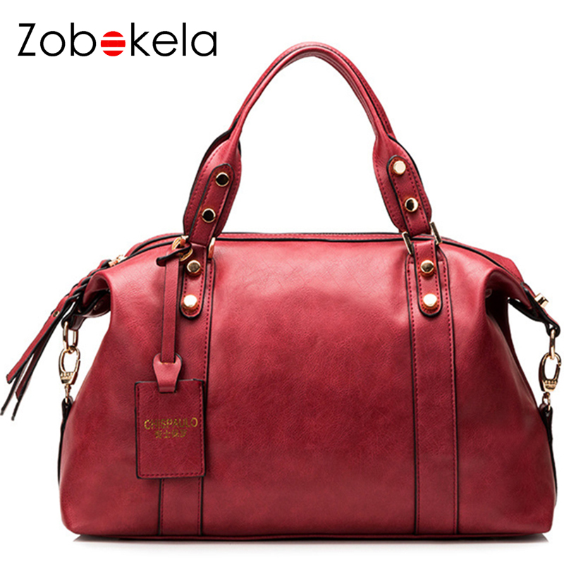 ZOBOKELA Luxury Handbags Women Bags Designer Women Shoulder Messenger Bags Famous Brands Red Boston Totes Bolsos High Quality босоножки wilmar босоножки
