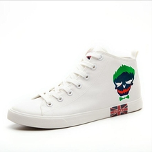 Suicide Squad Cool head Patterns Printing High top breathable canvas uppers sneakers student personalise fashionCasual shoes