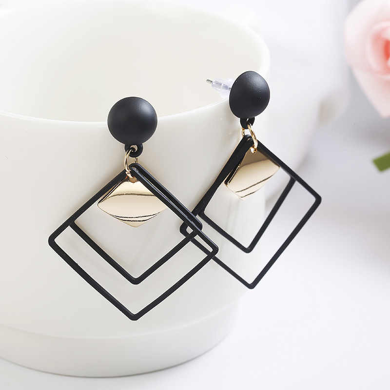 Korea Punk Trendy Statement Earrings 2019 Big Geometric Earrings For Women Hanging Dangle Earrings Drop Earring Modern Jewelry