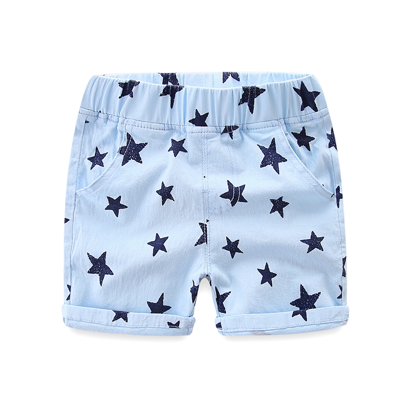 Five-pointed star children's shorts cotton baby elastic pants summer new children's clothing boys five pants tide