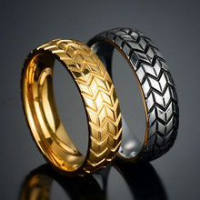 CAXYBB Tire ring Rivet Ring Vintage Jewelry Punk Rock Stainless Steel Men's Jewelry Party Jewelry(China)