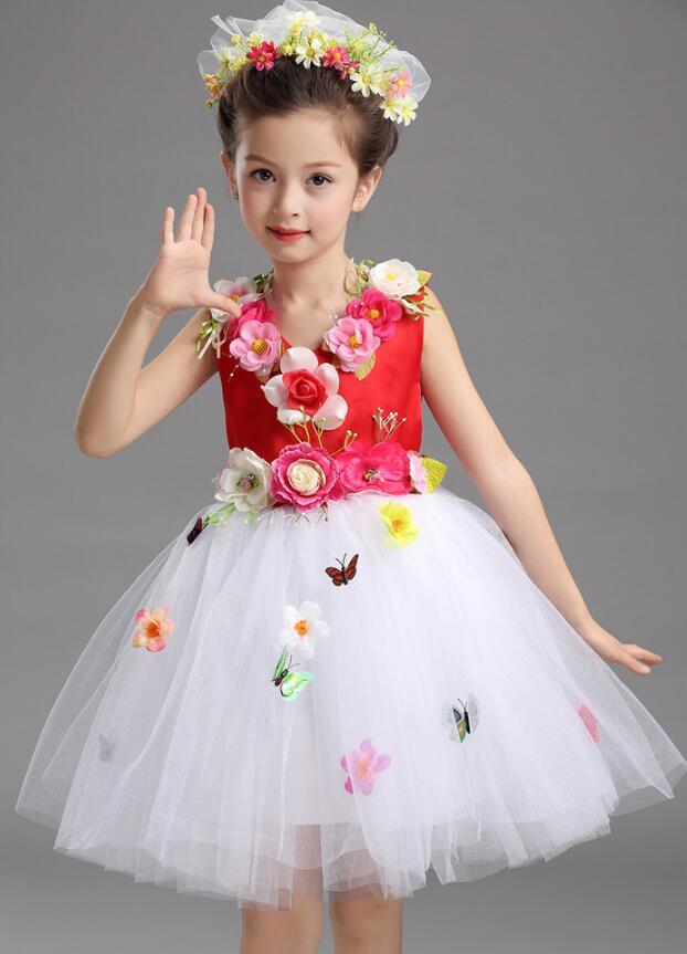Платье для балета с блестками для девочек; нарядное детское платье для бальных танцев и сценических танцев; детское платье-пачка для выступлений в джазовом стиле - Цвет: Красный