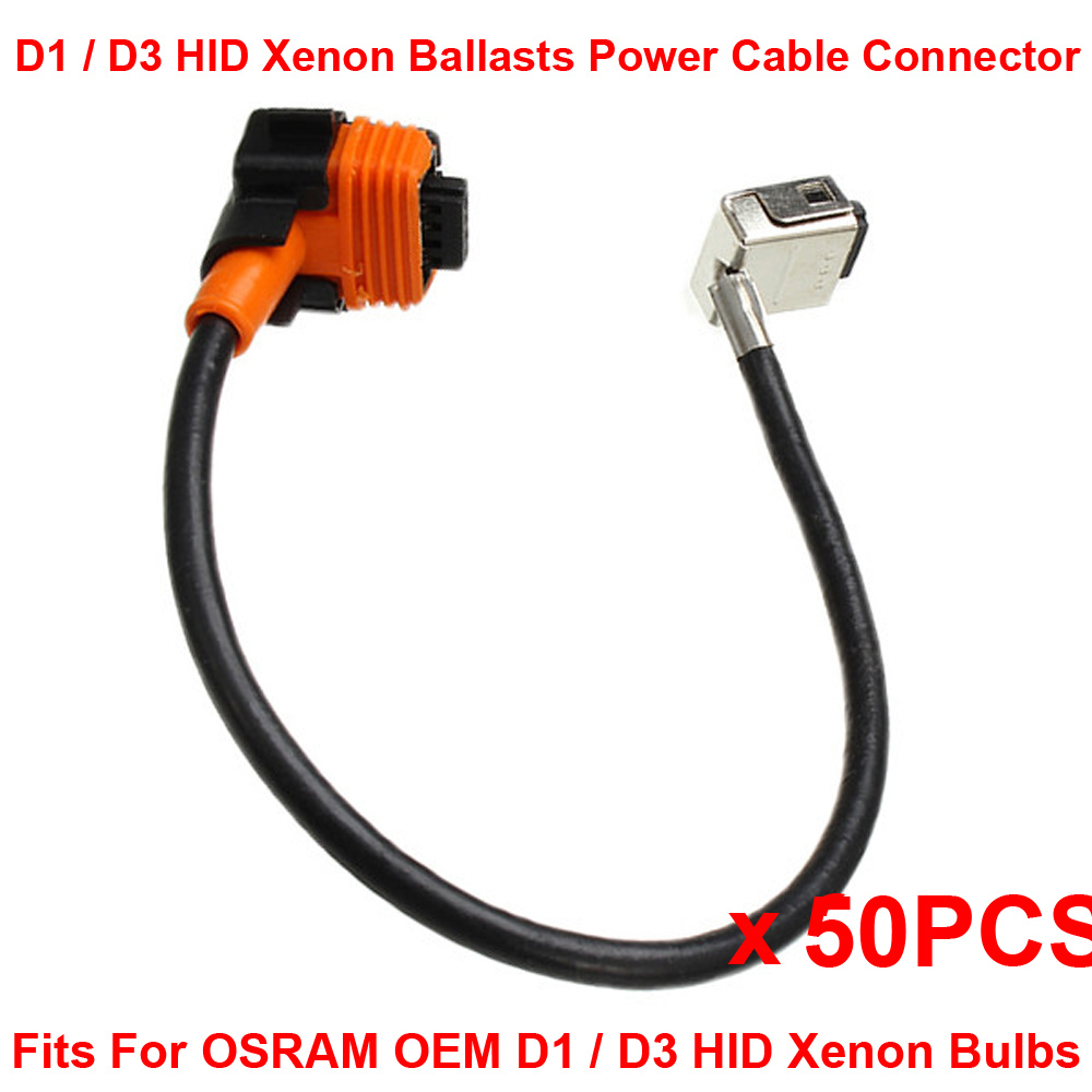 D1 D1S D1R D1C D3 HID Xenon Bulb Adapters Wire Harness Connector Cable Socket