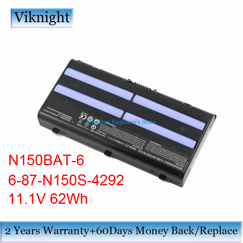 Original N150BAT-6 Laptop Battery for Clevo N150BAT-6 Metabox Alpha N170SD N150SD N151SD N155S 6-87-N150S-4292 Battery 62Wh hot sale original quality new laptop battery for clevo d450tbat 12 d450t 87 d45ts 4d6 14 8v 6600mah free shipping