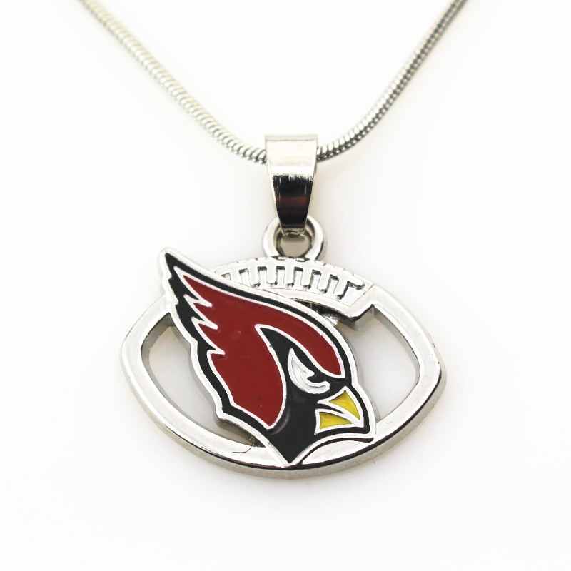 New design 20pcs/lot team football Sports Arizona Cardinals Sport For necklace Women diy Jewelry (with 45+5cm chains)