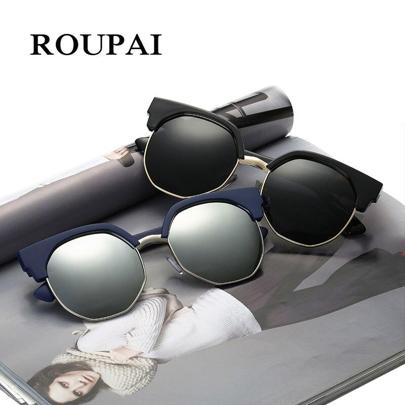 Top Quality Retro Spectacles UV400 Mirror Lens Alloy Frame Clubmaster Sun Glasses Polarized Sunglasses Women For Party Driving uv400 polarized mirror orange lens wood frame sunglasses
