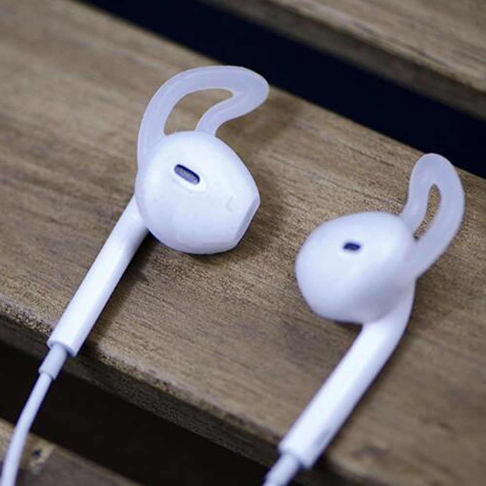 Dla AirPods 2 silikonowe antypoślizgowe osłona uszu Hook słuchawki słuchawki douszne do i10 i11 i12 tws i16 i17 i18 i19 i20 i30 i40 i50 I80