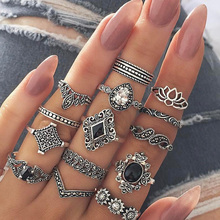 Hippie Bohemian Boho Stainless Steel Rings Set for Mistress Gift Women Fashion  Accesories 2019