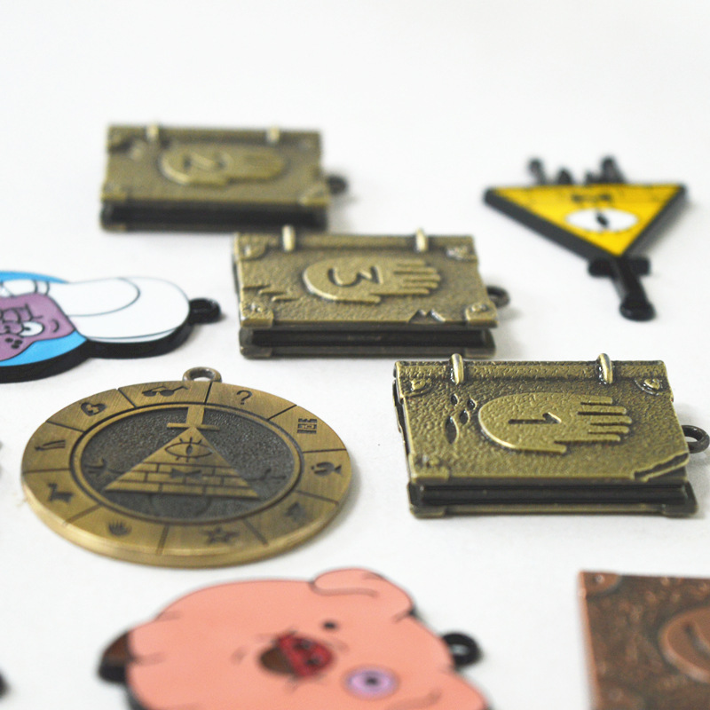 Aliexpress com : Buy Skyleshine 12Pcs/Lot Gravity Falls Necklace Journal  Memo Waddles Keychain Pendant Collection Toys For Kids Gifts S821 from
