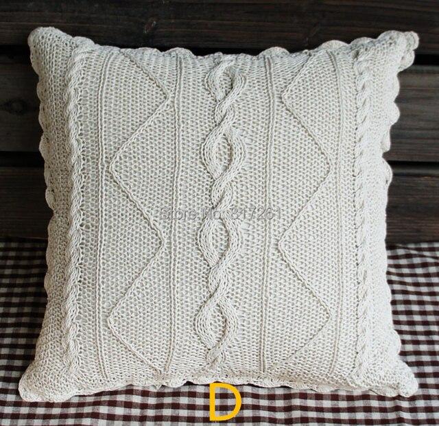 2015 45 cm cuadrado beige algodón crochet encaje almohada decoración ...