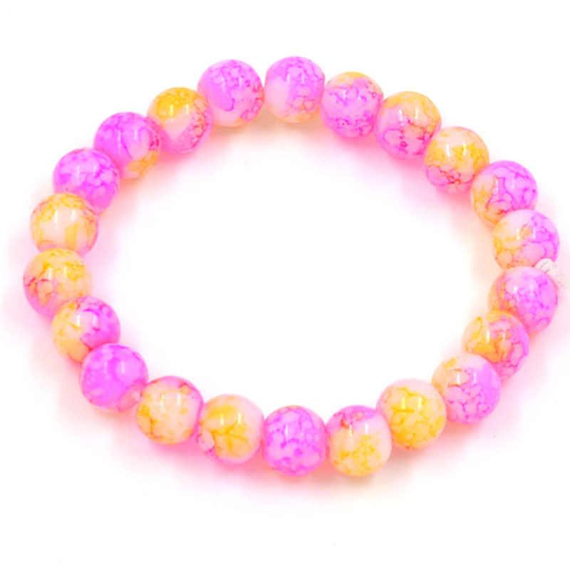 Trendy Round shape Natural Amethysts Purple opal beads Women Bracelet crystal fashion Bracelet for women summer Chakra Yoga gift