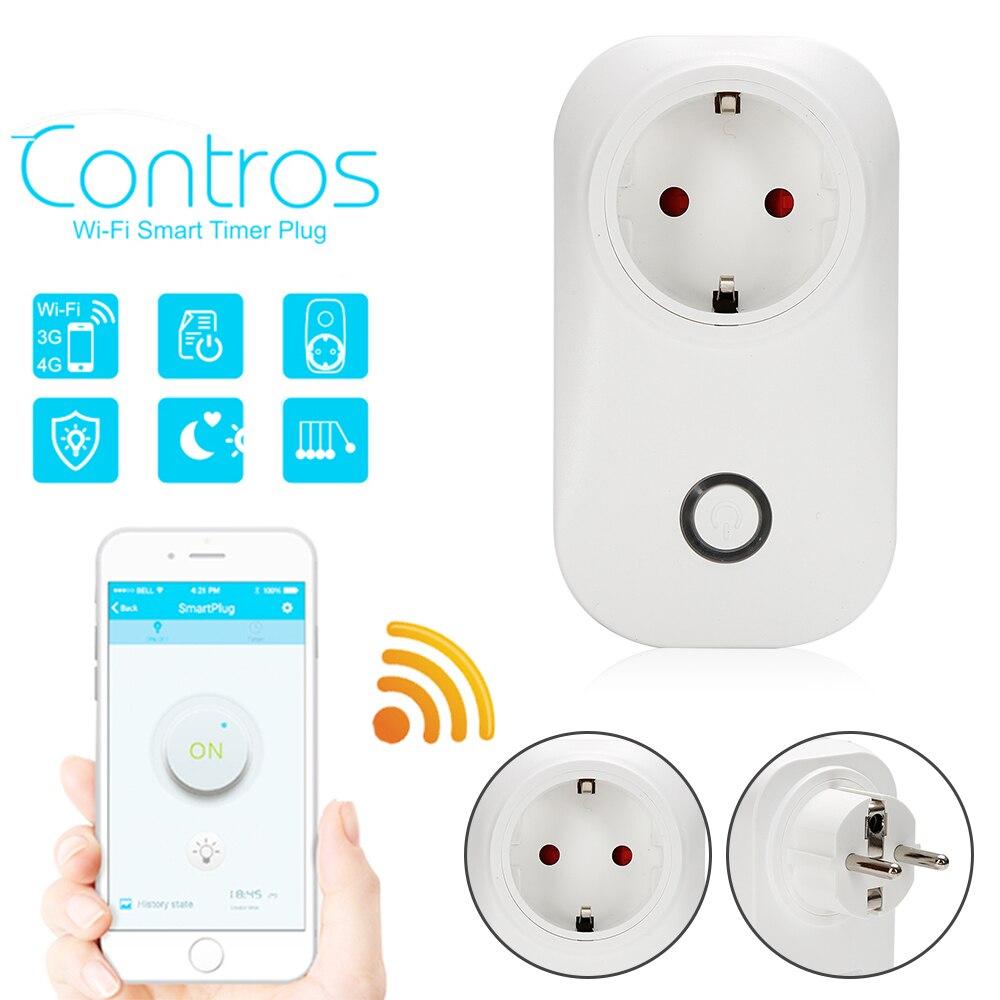 imágenes para Nueva venta Caliente Sonoff S20 Casa Inteligente de Carga Adaptador WIFI Smart Switch Inalámbrico de Control Remoto Enchufe de LA UE/EE. UU./UK Estándar