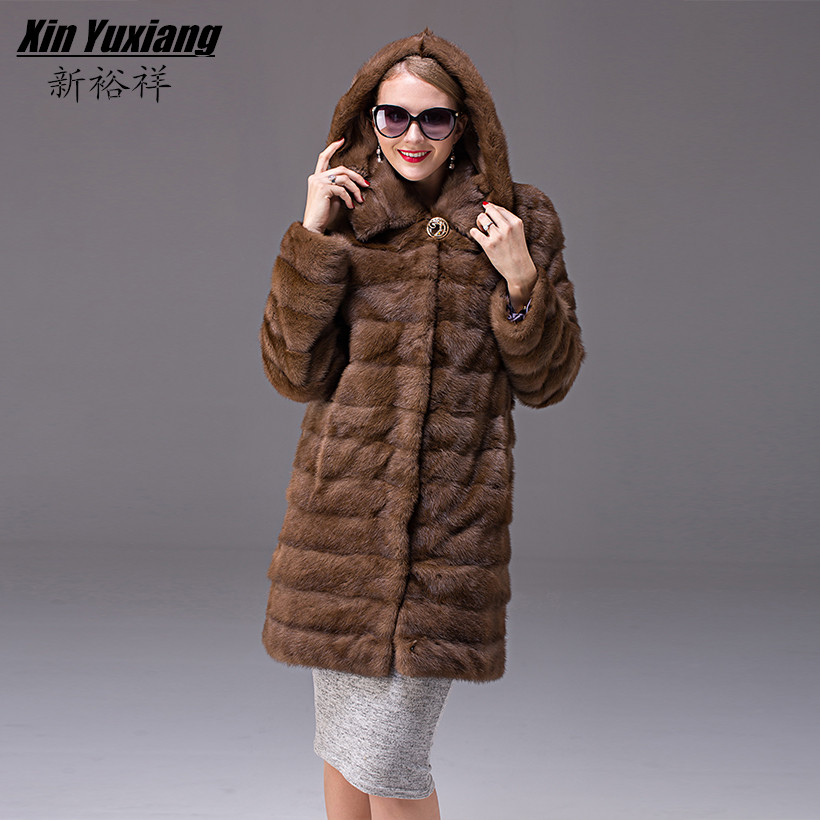 Popular Real Mink Coats Long Women-Buy Cheap Real Mink Coats Long ...
