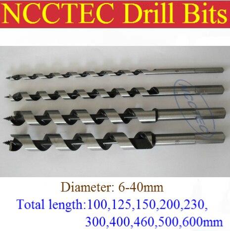 [40*1080mm longueur] 40mm diamètre vis à bois forets   1.6 ''* 40'' outils de forage en spirale pour le travail du bois vis à bois cannelée en spirale