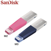 Genuine SanDisk USB Flash Drive for iPhone PC Metal U Disk 128GB 64GB Pendrive Original Dual OTG Connector USB 3.0 Pen Drive