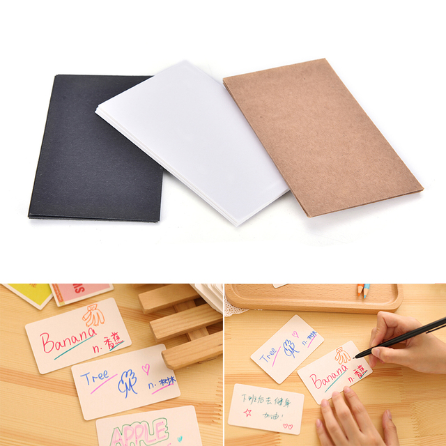 100pcslot hang tag blank tags packaging label white black kraft 100pcslot hang tag blank tags packaging label white black kraft paper message card word reheart Gallery