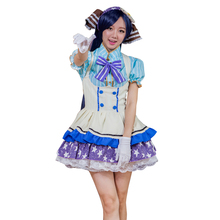 Pretty japanese anime love live tojo nozomi caramelo uniforme de sirvienta princesa vintage lolita dress cosplay por encargo