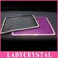 Ladycrystal Diamond Rhinestone Silicone Car Anti Slip Mat For GPS Mobile Phone Pad Car Doll Non-slip Cushion