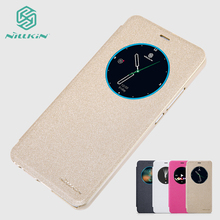 For Meizu M3X Case NILLKIN Case For Meizu M3X Hight Quality PU Leather Sleep Function Case Cover For Meizu Meilan X cheap Flip Case Matte Anti-knock black red white Gold In Stock