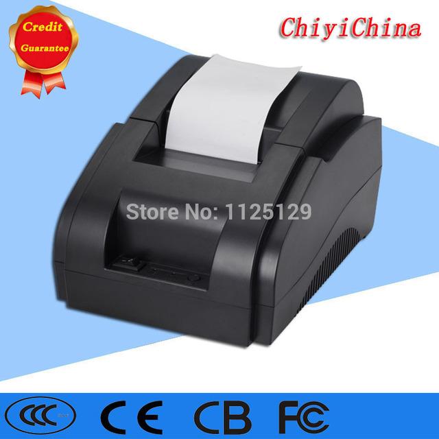 Mini 58mm impresora térmica de recibos/adaptador de corriente puerto USB incorporado en la impresora térmica de recibos impresora de tickets