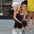 HEYounGIRL 2017 Новый Приход Мода Карандаш Брюки Женщин Уличной Причинная Сторона Полоса Hoolow из Сексуальные Брюки