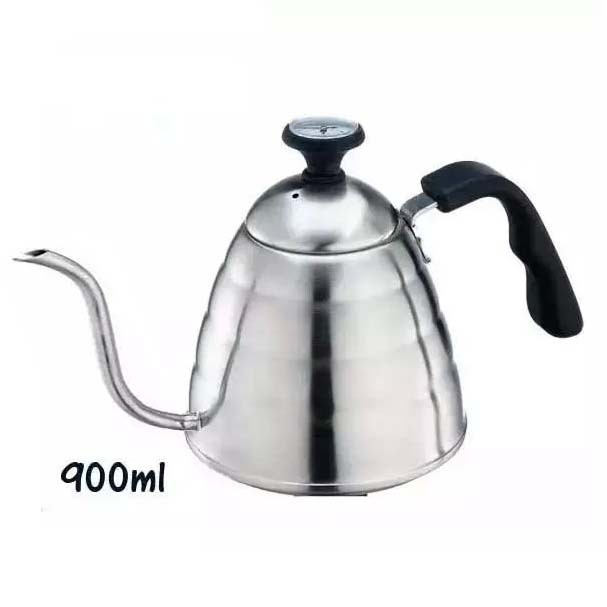 Stainless steel long pour coffee pot/coffee  pouring kettle/drip coffee pot/0.9L Pour Over Coffee Pot -Satin Finish