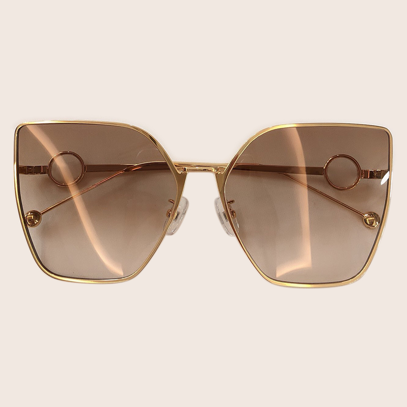 2019 Vintage Square Sunglasses Women New Style Cat Eye Metal Frame Sun Glasses Retro Classic Shades